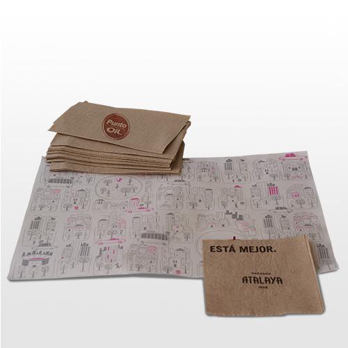 Servilletas, manteles y papeles de envoltorio
